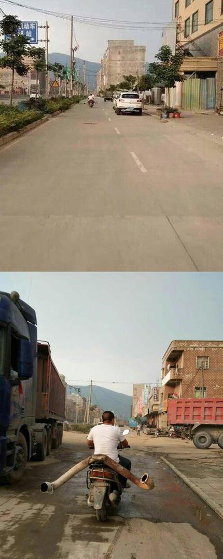 以为劈叉骑车呢,近看~(组图)