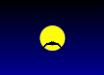 Flash教你如何制作蝙蝠在月夜里飞翔