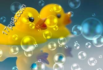 ps设计实例-打造逼真肥皂泡